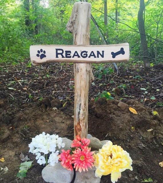 Pet Grave Marker  Dog Cat Etc. by SmittysBoysHardWoods on Etsy
