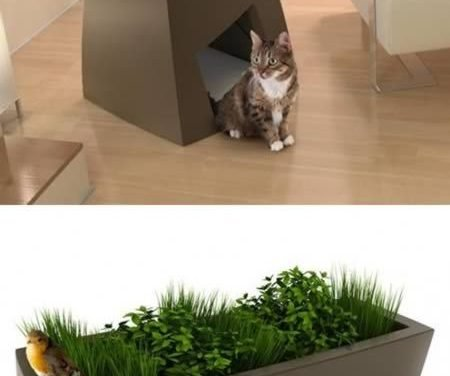 """Jardin Chic is showing that pet friendly furniture can also be """"chic"""". Take a look at these planters with dual functions. They serve as"""