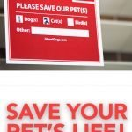 Gain a peace of mind with the Pet Alert stickers on your windows at home. This will notify rescue teams or firefighters in the event of an