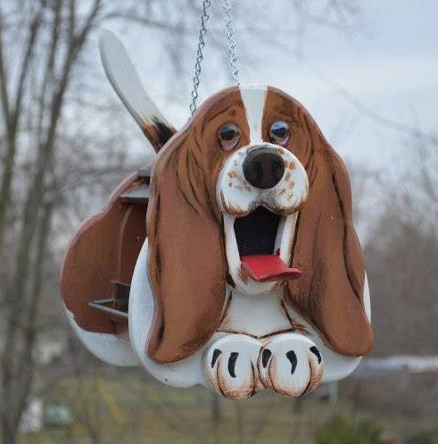 Basset Hound Dog Birdhouse or Bird Feeder by MyCountryHaven, $60.00