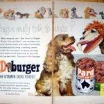 1954 Kukla Fran + Ollie  -Pard Dog  Food -Original 2 Page 13.5 * 10.5 Magazine Ad-Pet Food