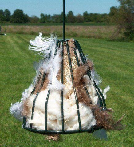 Birdie Bell with Nesting Material – CheeryBird.com #beekeepingchecklist