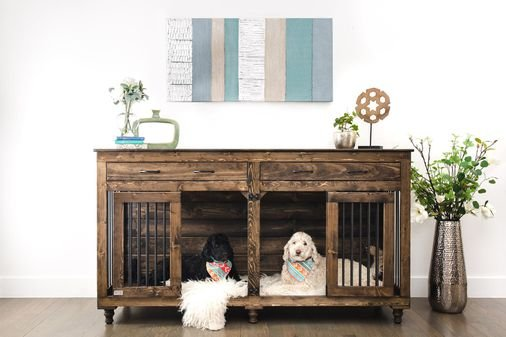 Custom wood kennels, memory foam beds: The wild world of modern pet furniture