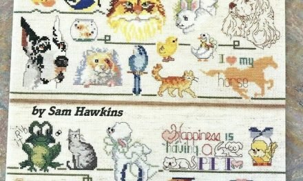 Favorite Pets to Cross Stitch Pattern Book Dog Cat Bird Mouse Fish Turtle & more #AmericanSchoolofNeedlework #CrossStitchBook