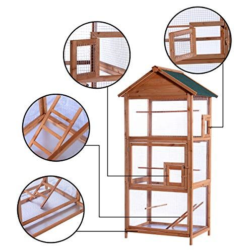 Outdoor Aviary Bird Cage Wood Vertical Play House Best Suggestion Online Pet Retail Products – Dogs , Cats, Birds, Fish, Horses